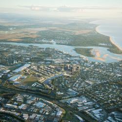 The new Maroochydore city centre and surrounds.  The Sunshine Coast Airport is just 10 minutes north of the central business district.