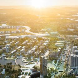 CGI Aerial view of Maroochydore - Stage 1 & 2 development